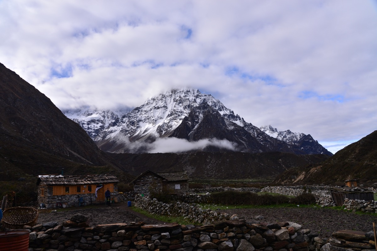 Kambachen village kanchenjunga north