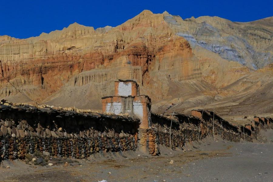 mani wall near Tsarang