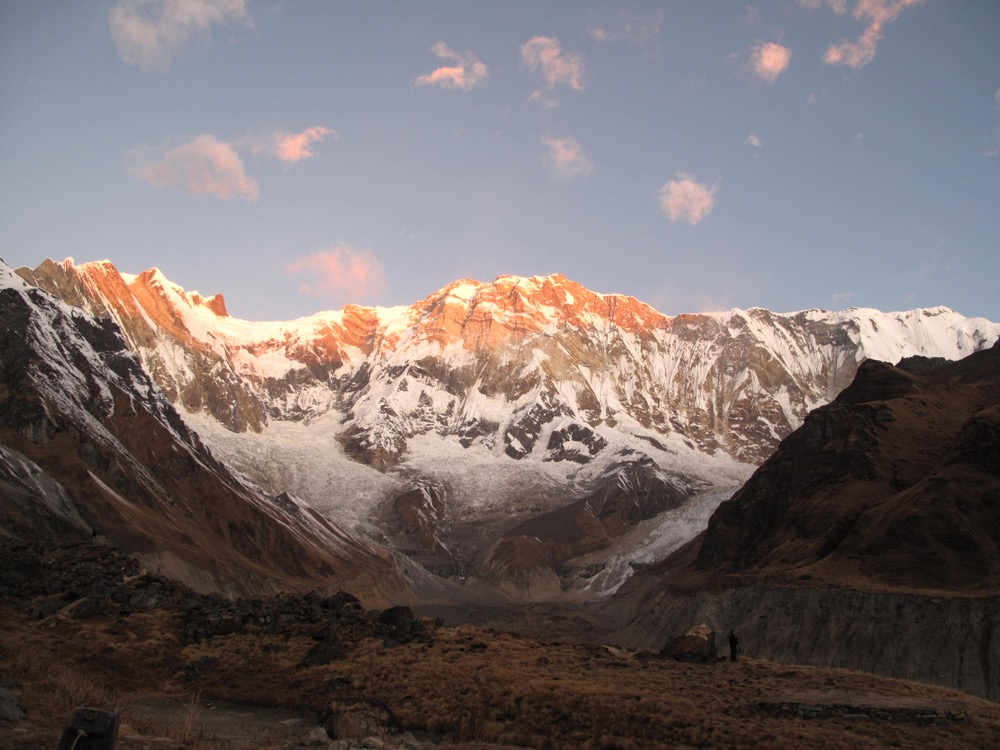 sunrise annapurna base camp