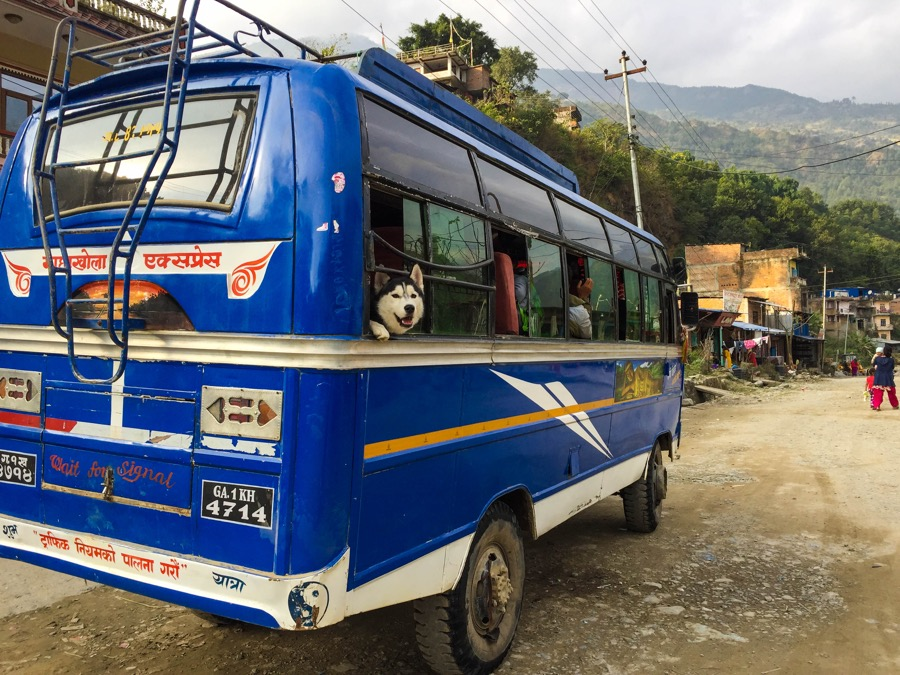 arughat soti khola local bus