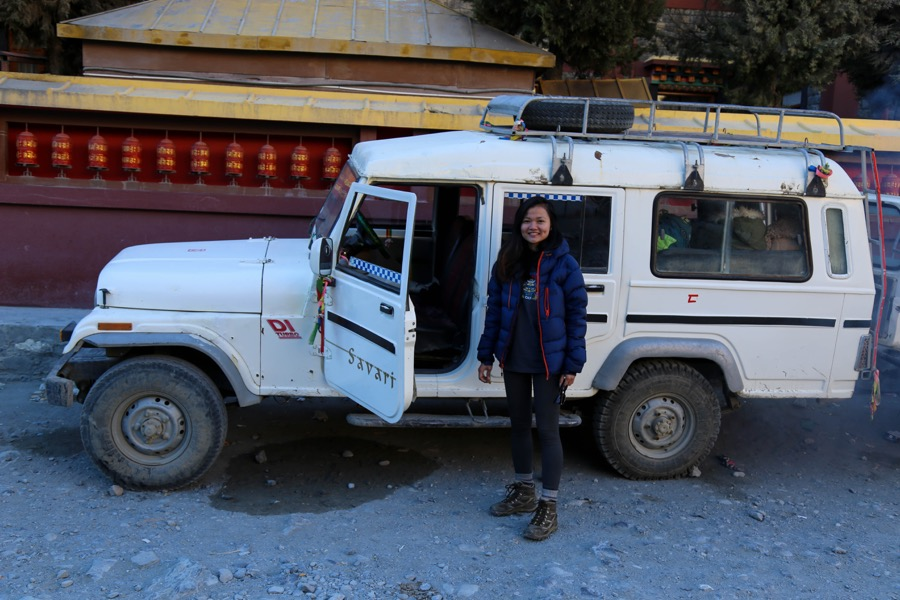 jomsom to kagbeni jeep