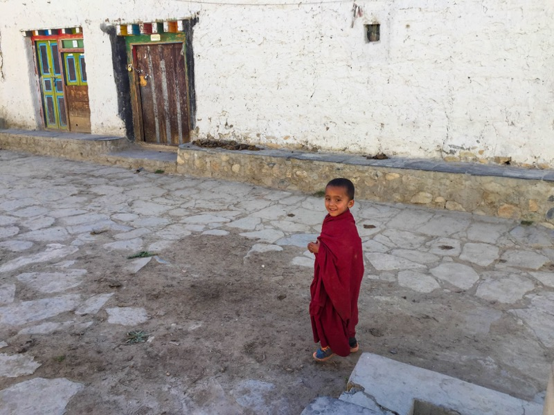 lama monk in upper mustang