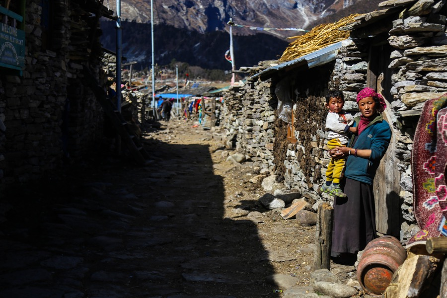 local villagers manaslu