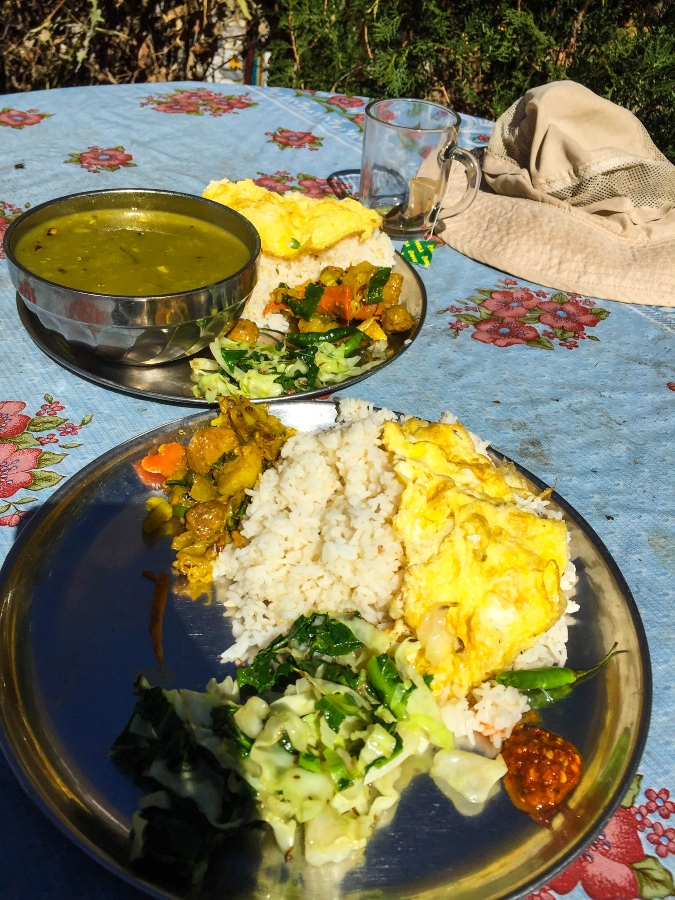 food during manaslu circuit trekking