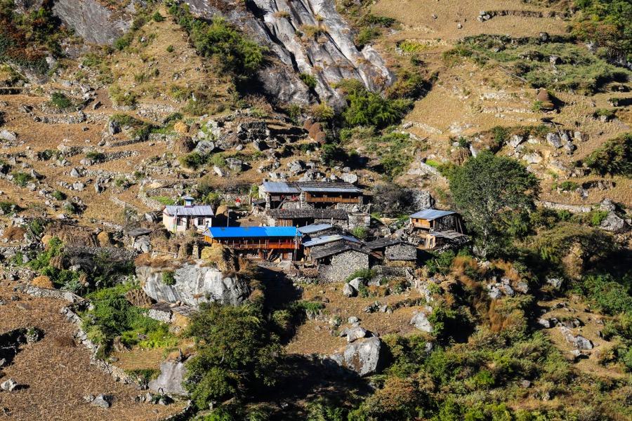 village in manaslu trek