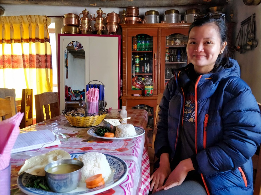 upper mustang trek food
