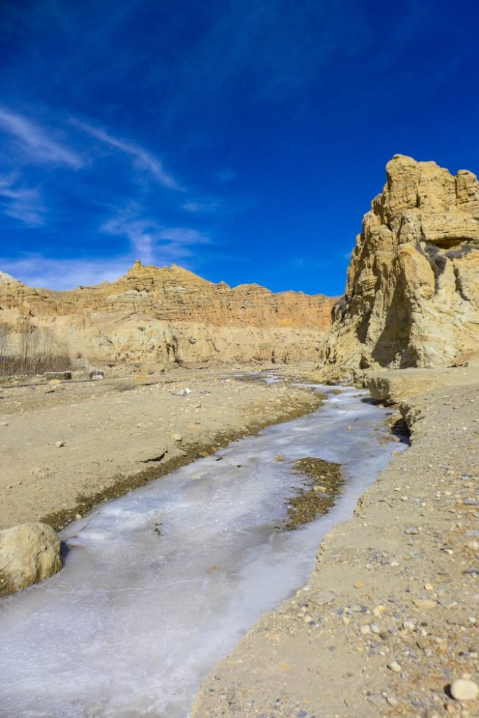 upper mustang trek in winter