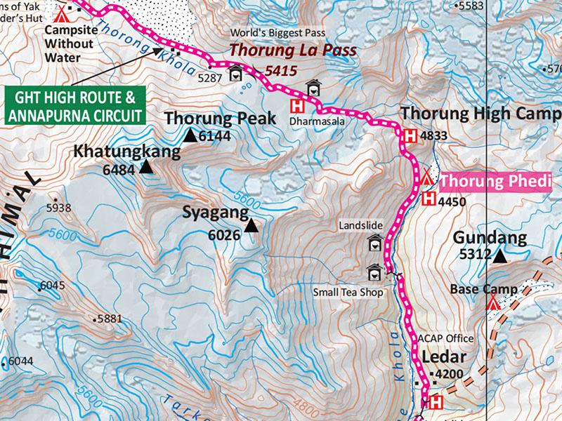 Annapurna Region Trek Map