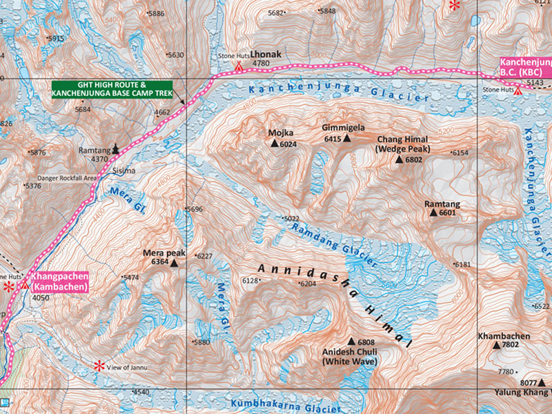 Kanchenjunga Trek Map