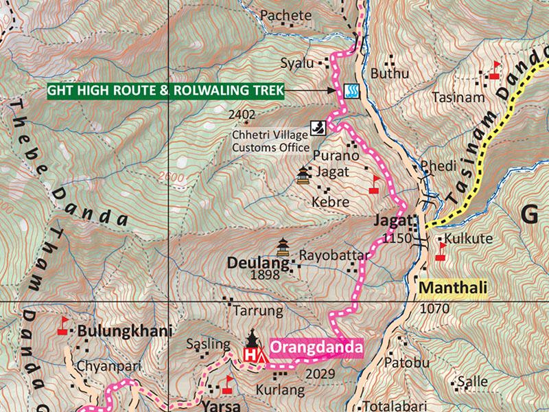 rolwaling trek map