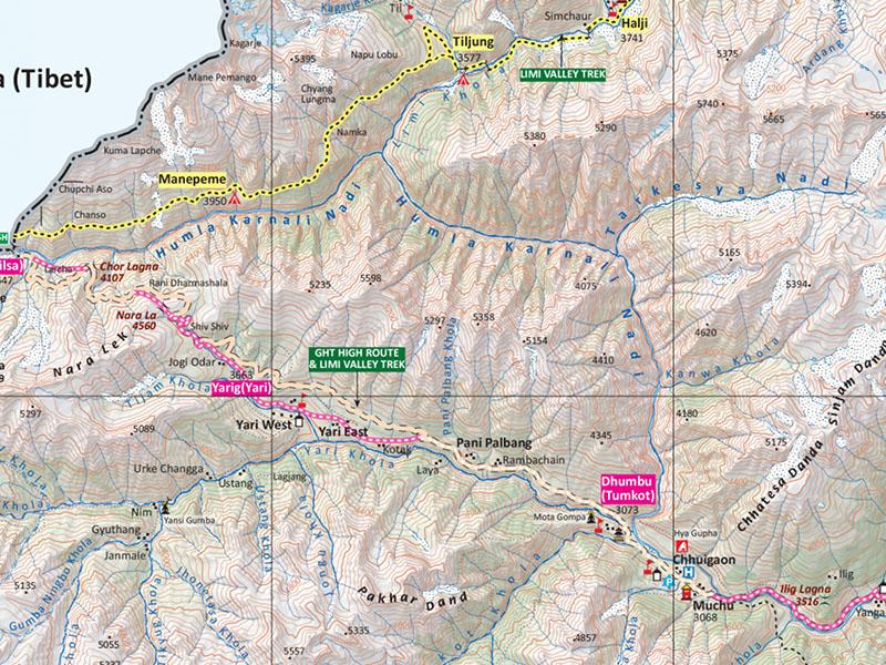 limi valley trek map