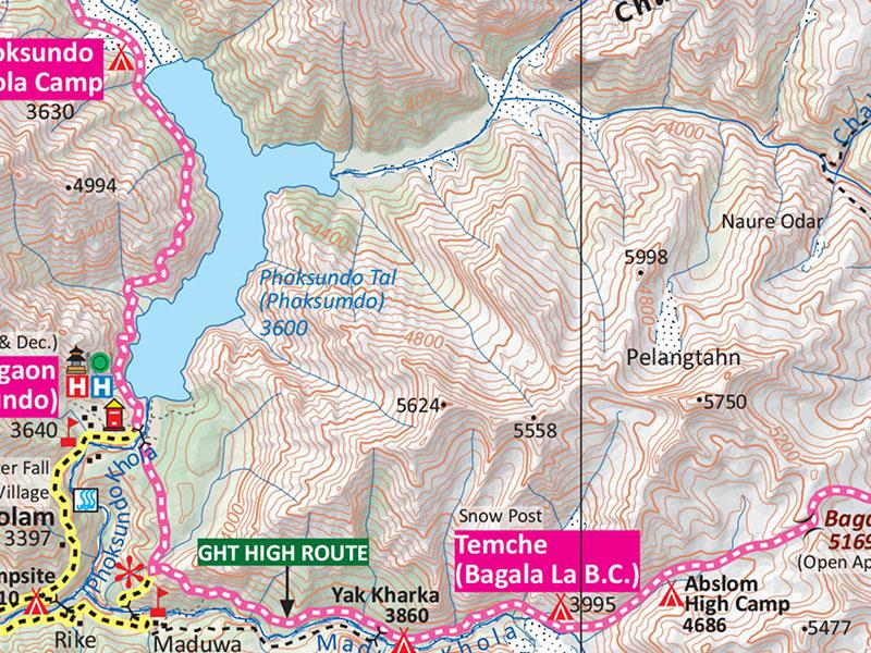 lower dolpo trek map