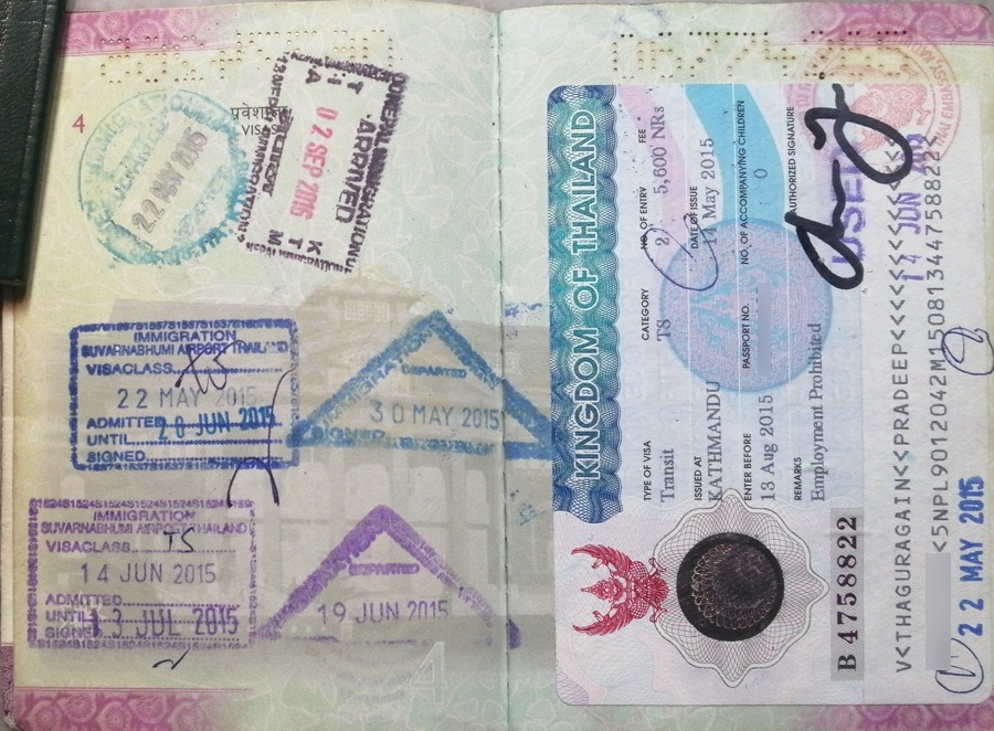thailand tourist visa for nepali